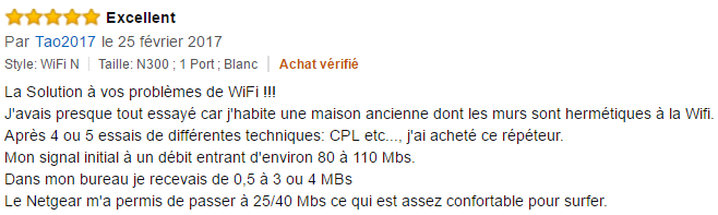 Repeteur wifi Netgear WN3000RP-200FRS avis (2)